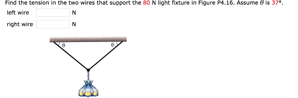 Solved: Find The Tension In The Two Wires That Support The ...