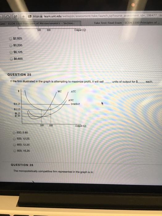 Solved: Https Learn.unt.edu Take Test: Final Exam ECON 110 ...