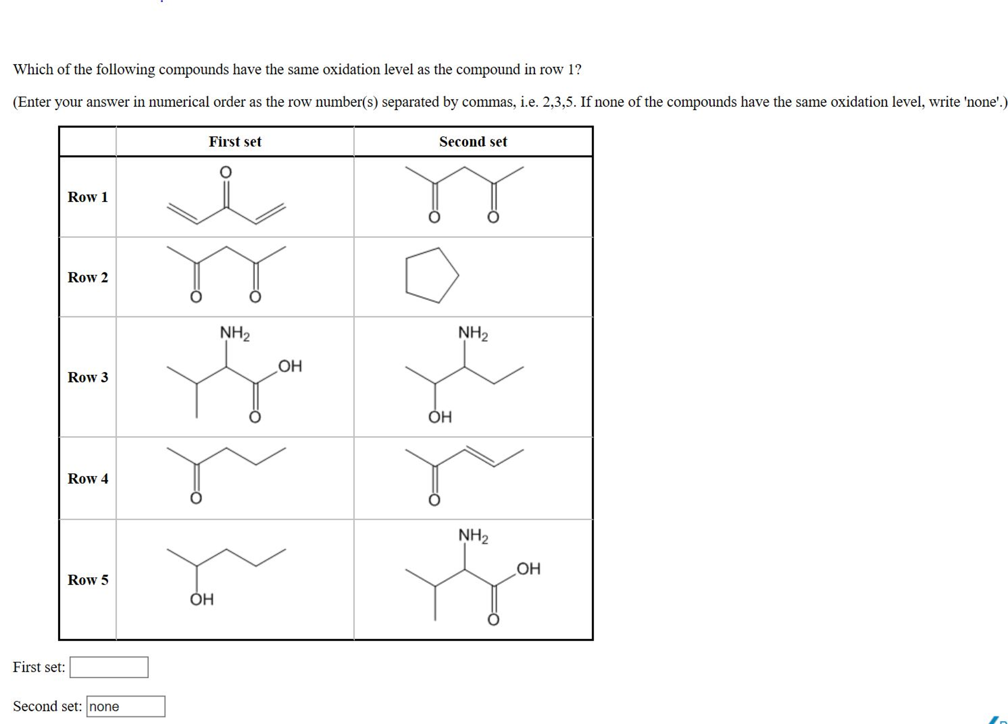 Solved: Which Of The Following Compounds Have The Same Oxi