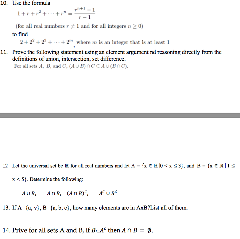 Solved 10 Use The Formula Pn1 1 7 For All Real Numbers