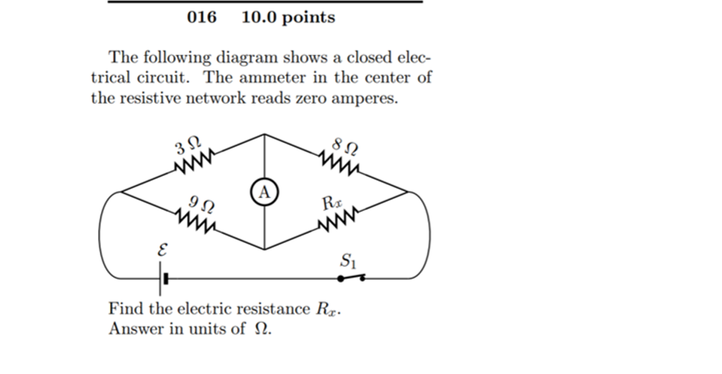 Solved The Following Diagram Shows A Closed Electrical Ci