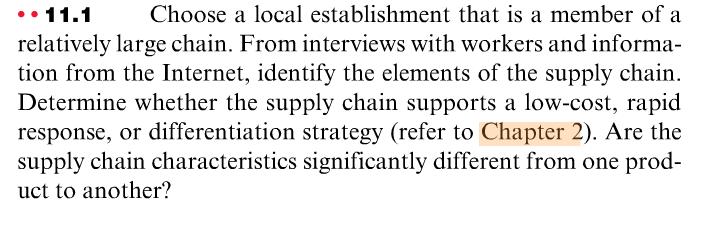 establishment chain