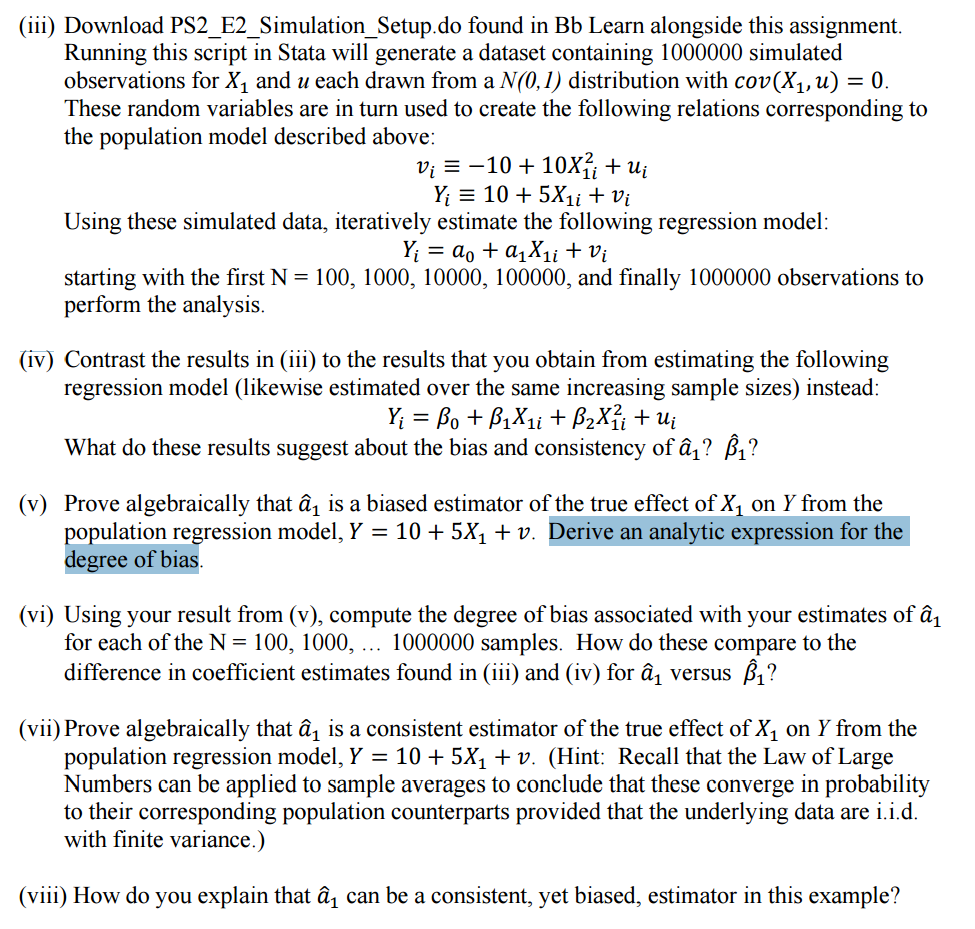 I Have Some Questions I Need Help With Please: I Have Some Questions About Econometrics. I Want S
