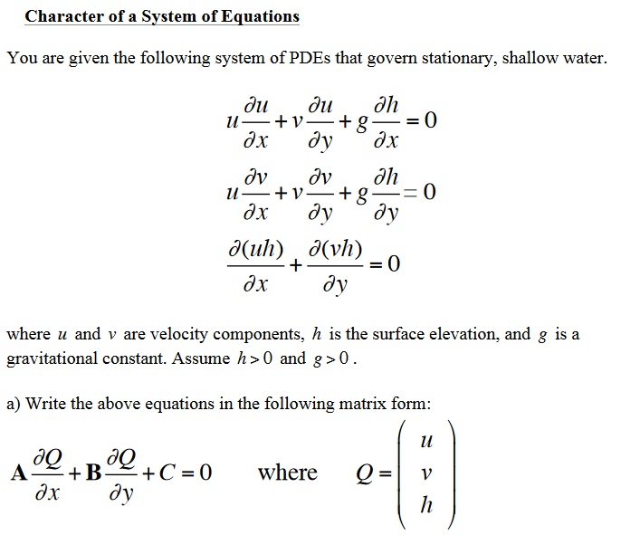 Solved: Character Of A Svstem Of Equations You Are Given T