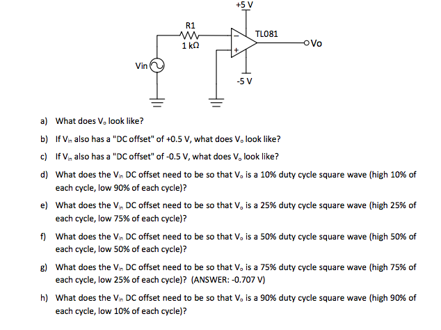 Solved: Consider The Circuit Below, Vin Is A 1 Vpeak 1 KHz