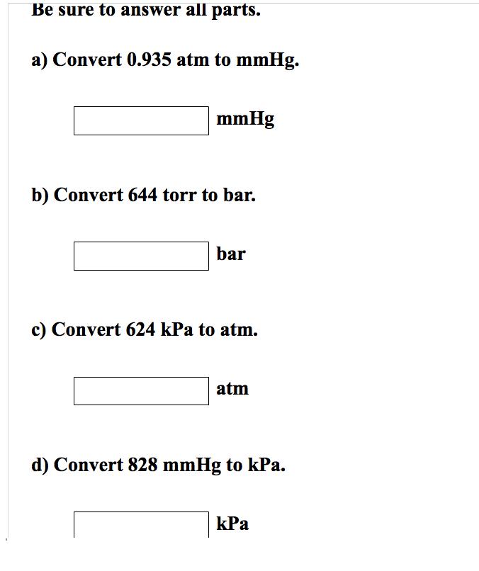 Convert 0 935 Atm To Mmhg Mmhg Convert 644 Torr