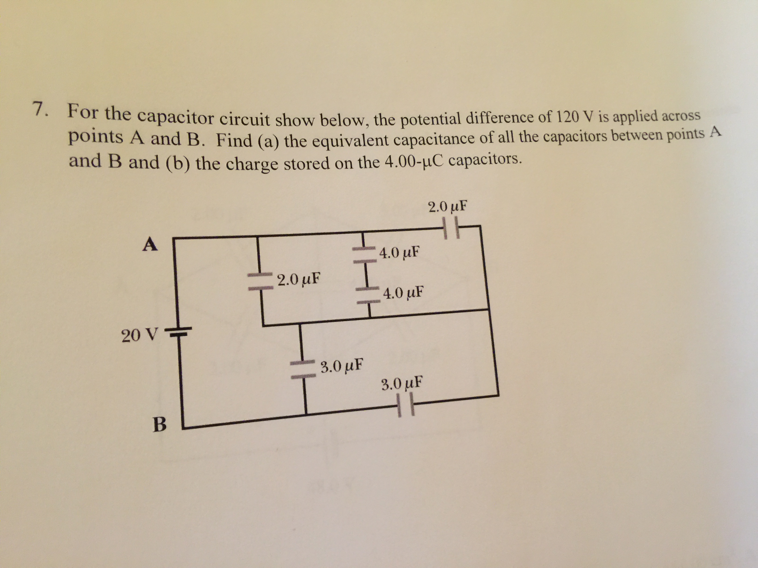 Solved For The Capacitor Circuit Show Below Potentia Capacitorcircuit