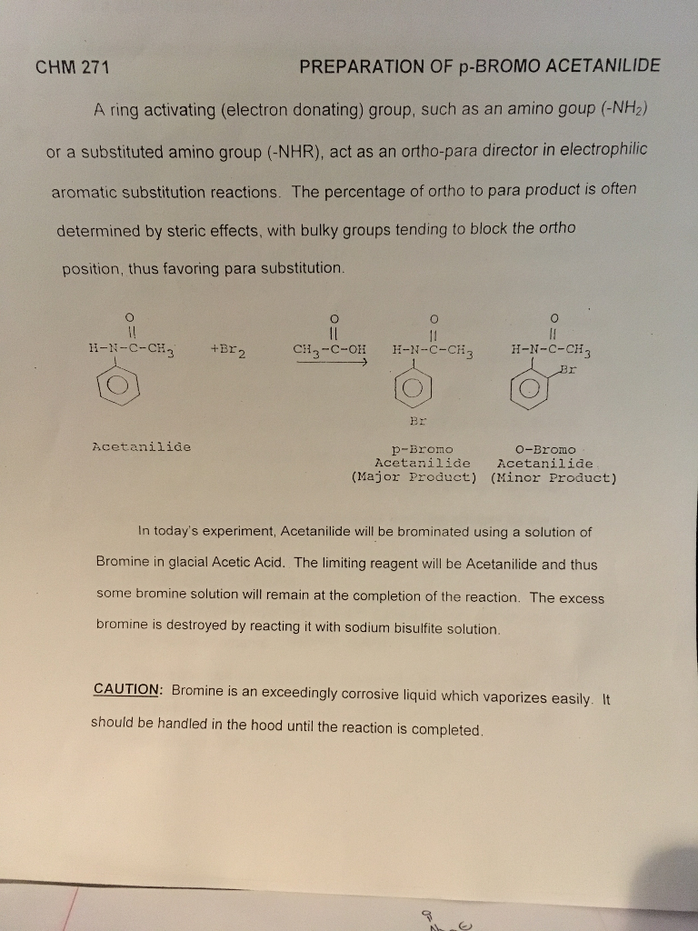synthesis of 4 bromoacetanilide from acetanilide
