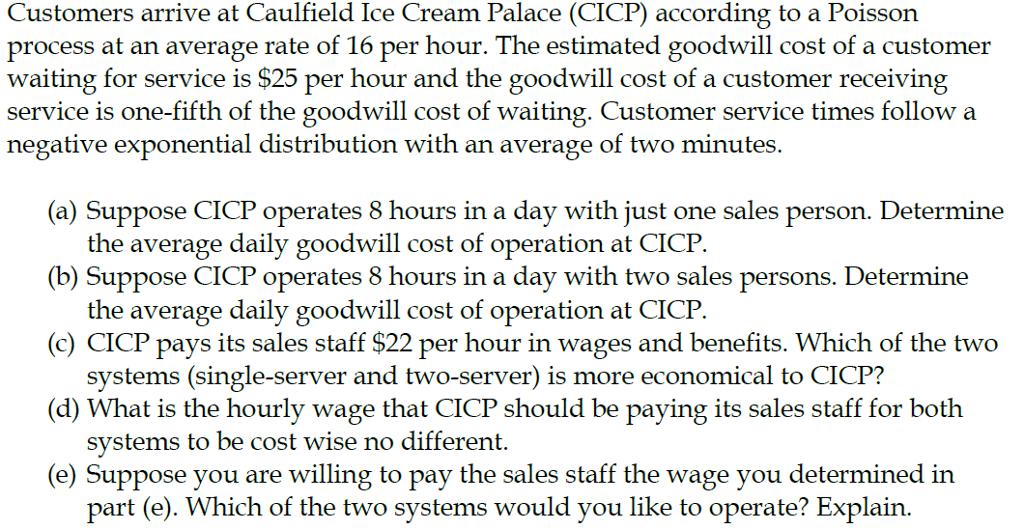 ice cream distribution process