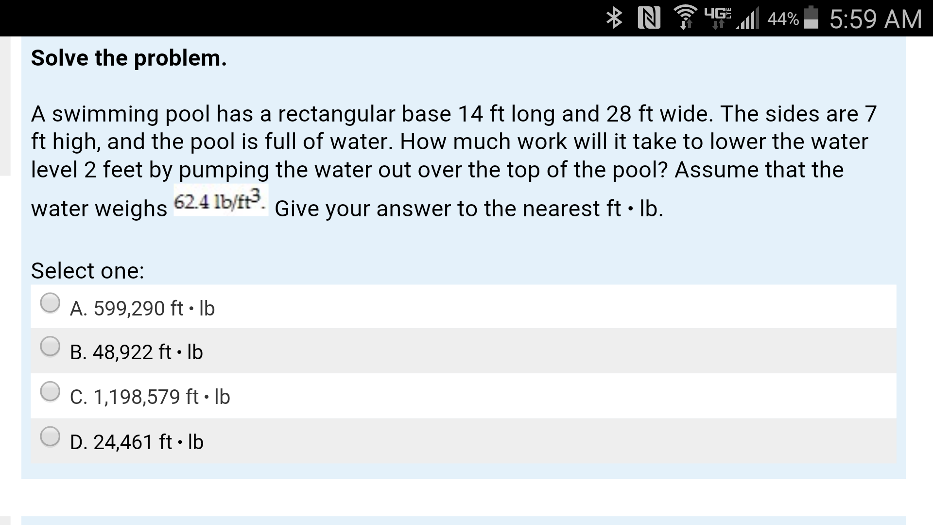 Solved a swimming pool has a rectangular base 14 ft long - A rectangular swimming pool is 30 ft wide ...