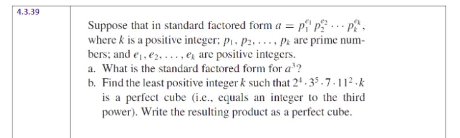 Solved 4339 Ek Suppose That In Standard Factored Form A