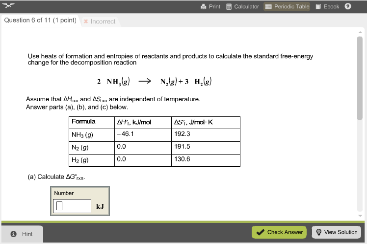 Solved Print Calculator Periodic Table Lil Ebook Question