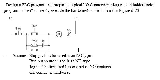 Solved Design A Plc Program And Prepare A Typical Io Con