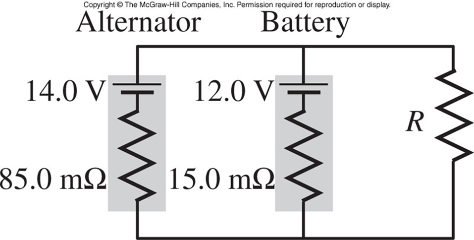 the figure shows a simplified circuit diagram for