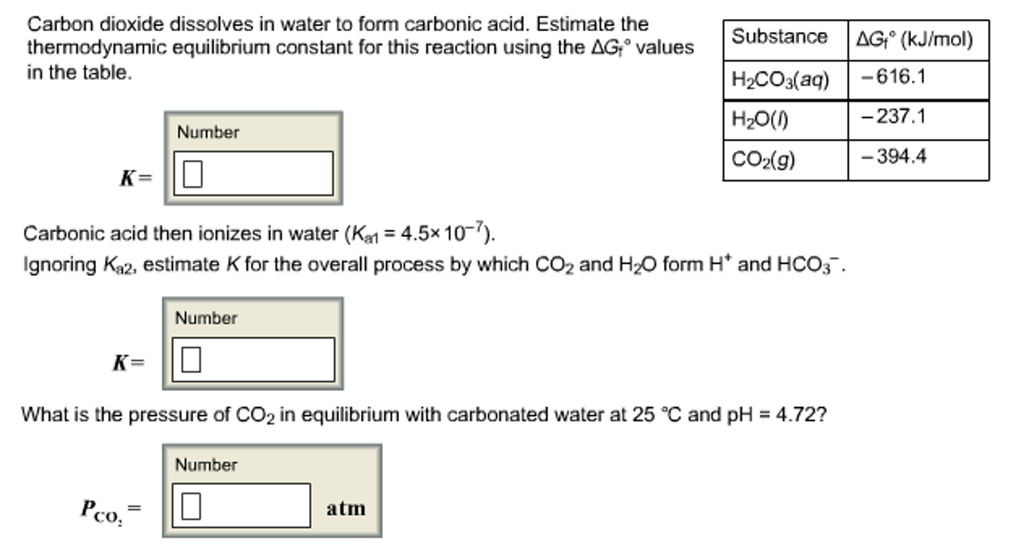 Chemistry archive november 16 2016 chegg carbon dioxide dissolves in water to form carbonic gamestrikefo Images