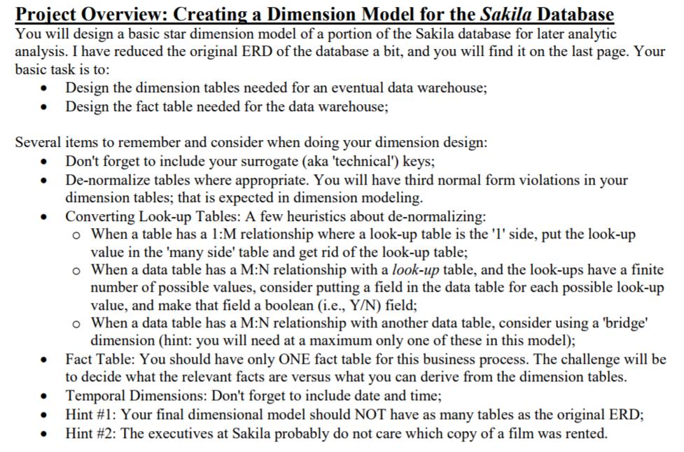 er modeling and dimensional modeling