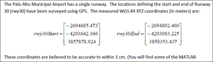 Solved: (a) Determine The Geodetic Latitude, Longitude, An