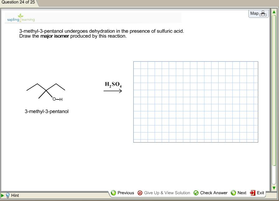 dehydration of 3 pentanol
