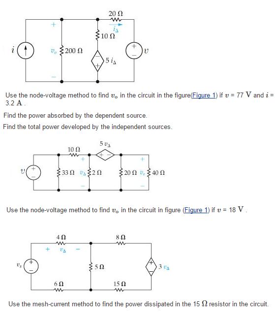 20 10 N 200 5 Is Use The Node Voltage Method To Find V