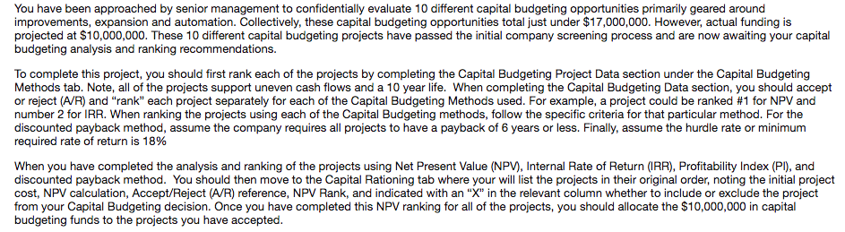 1 how would you evaluate the capital budgeting method used historically by aes what s good and bad a Explain and comment on the capital budgeting method used historically by aes at the aes corporation capital budgeting was historically a very simple method, that was used for all projects being examined, regardless of geographical location.