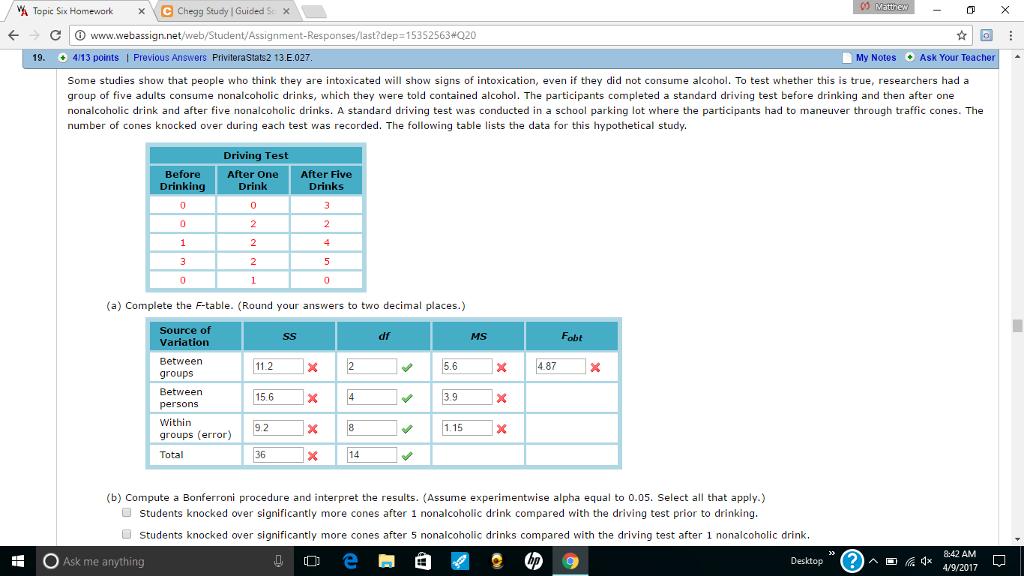Solved: Matthew VA Topic Six Homework X C Chegg Study IGui