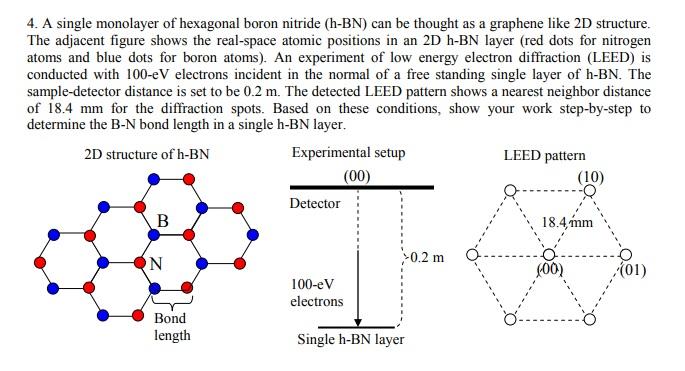 4 A Single Monolayer Of Hexagonal Boron Nitride Chegg