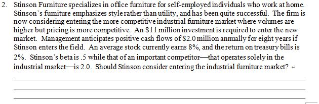 Stinson Furniture Specializes In Office Furniture For Self Employed  Individuals Who