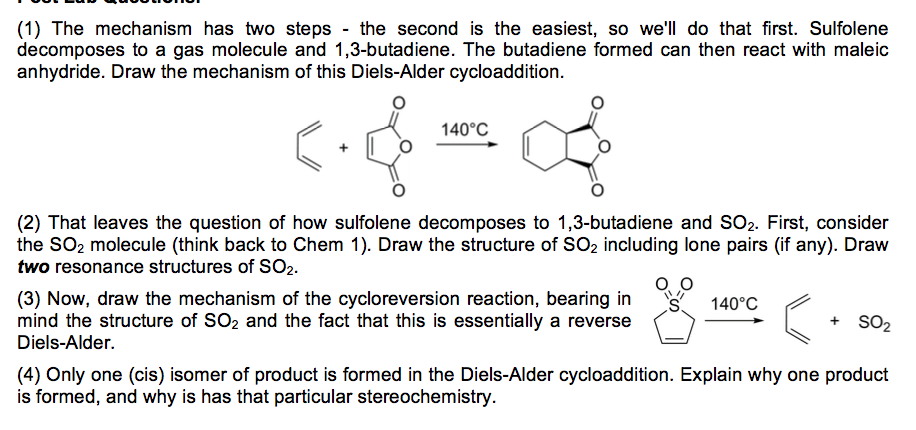 the diels alder reaction of anthracene with maleic anhydride Between maleic anhydride and anthracene if the solvent of a diels alder reaction is mesitylene rather than xylene, what would happen to the reaction rate.