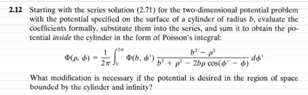 Starting with the series solution (2.71) for the t