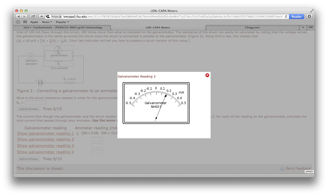 Solved This Exercise Examines The Technique Used To Conve Figure A Ammeter Measures Total Current Through Circuit Note That Galvanometer 1 Picture Is Example They Gave 2 4 Are My Questions I Have Solve