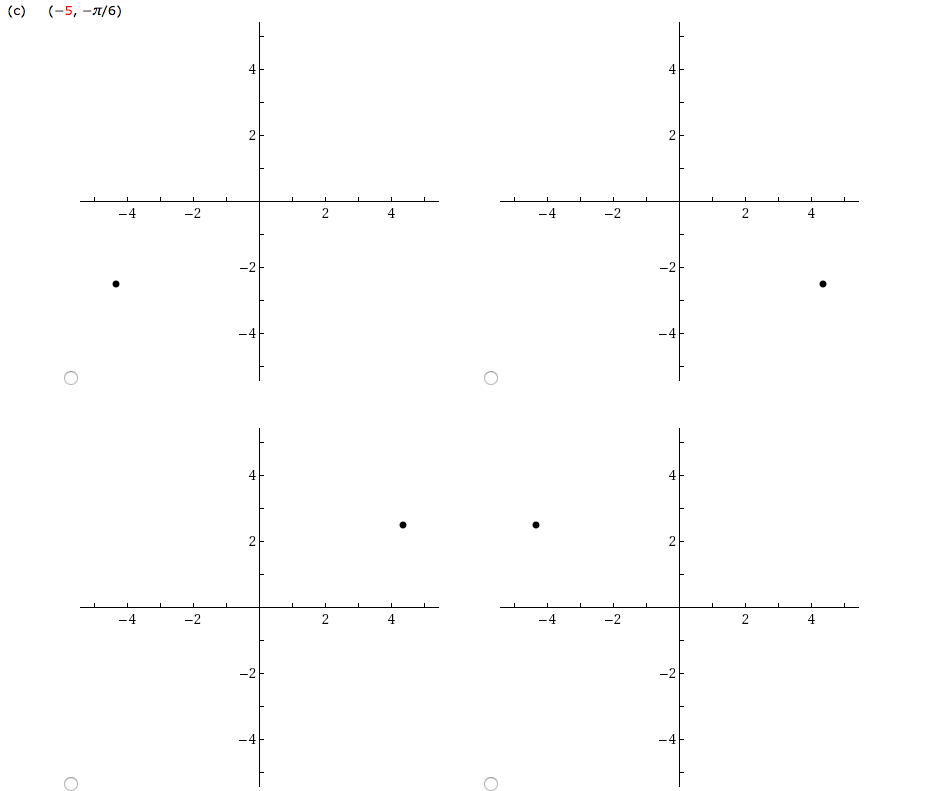 Solved: Plot The Point Whose Polar Coordinates Are Given