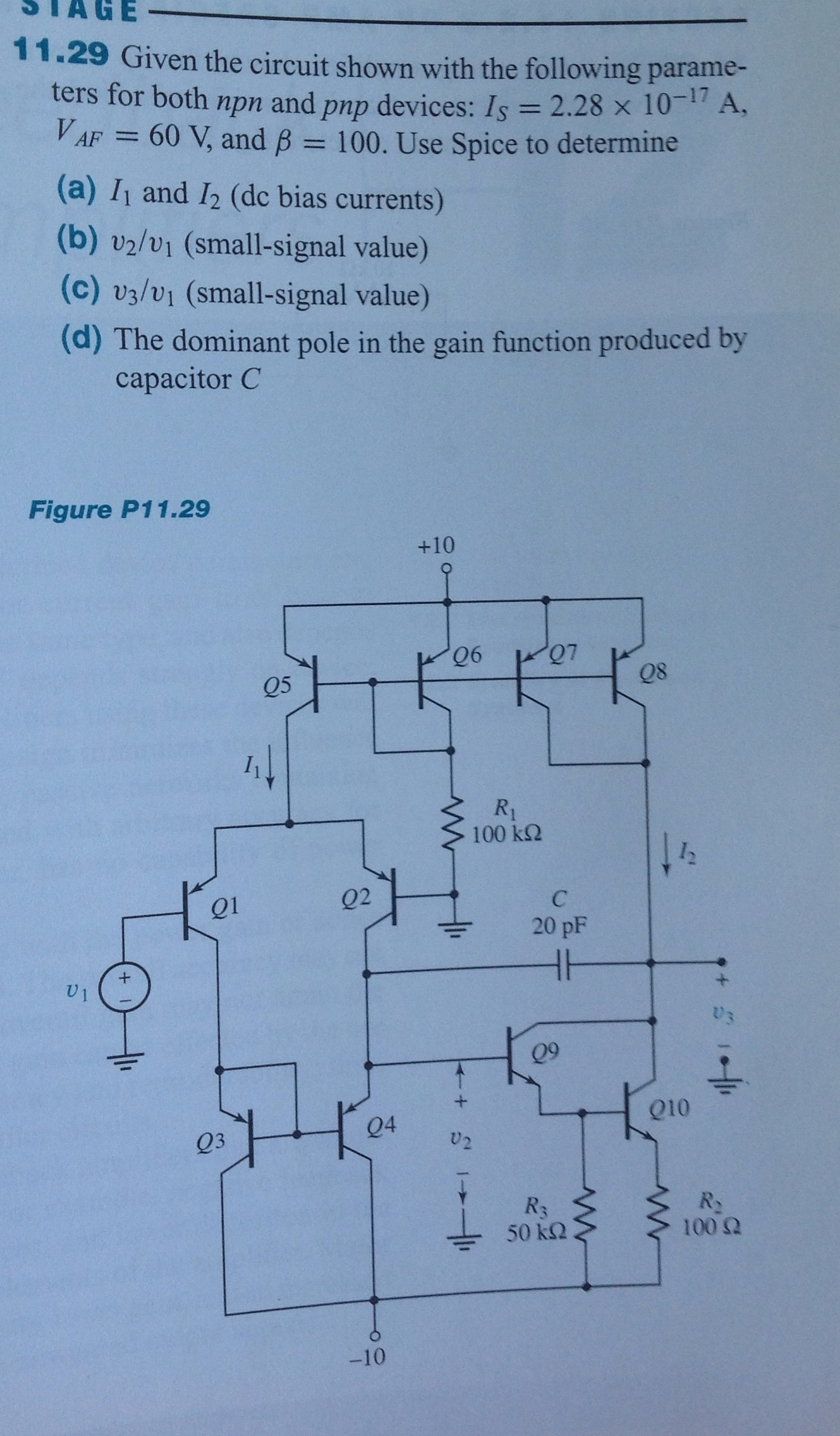 1 29 Given The Circuit Shown With Following Pnp Prox Switch Wiring Diagram Question Parameters For Both Npn And Devices Is 2