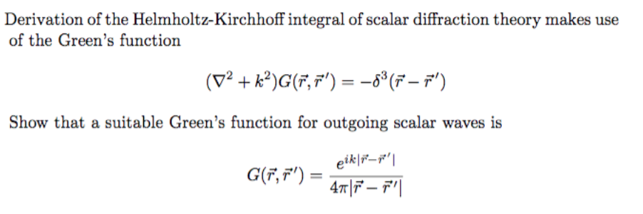 Derivation Of The Helmholtz-Kirchhoff Integral Of