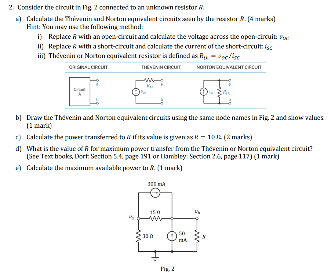 Solved Consider The Circuit In Fig 2 Connected To An Unk Series Parallel Circuits Part 5 Solving For Current Voltage And