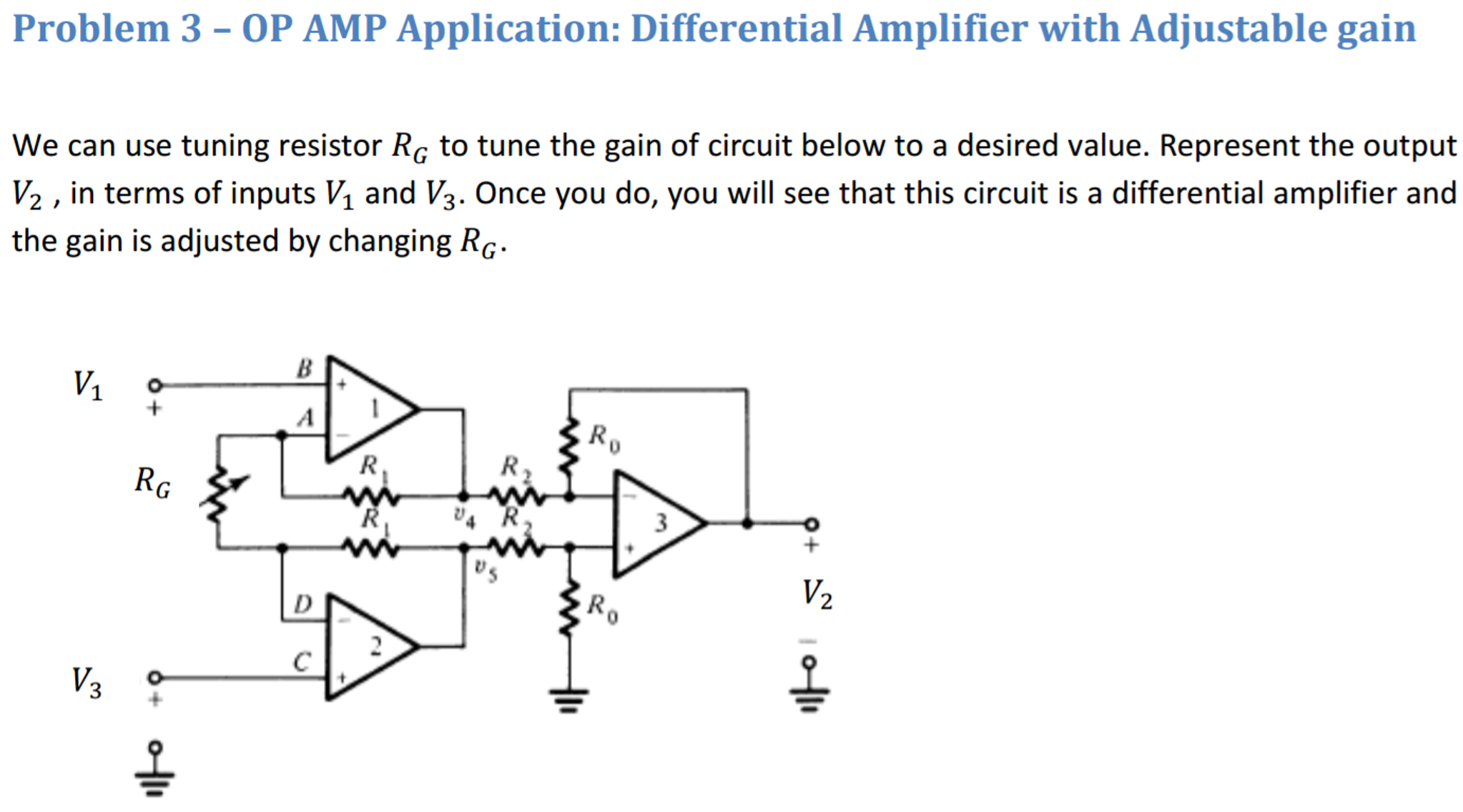 Solved Op Amp Application Differential Amplifier With Ad The Operational Used As An A Simple Explanation