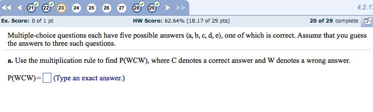 answers to multiple choice assignment 3 You've probably heard someone give advice along the lines of when in doubt, guess 'c' when taking multiple choice tests the alleged reasoning behind it is that there's a statistical advantage in guessing 'c' consistently rather than randomizing your answers i decided to investigate this claim.