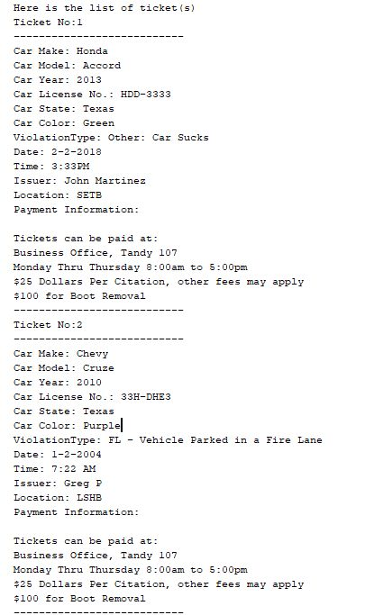Here Is The List Of Ticket S No1 Car Make Honda