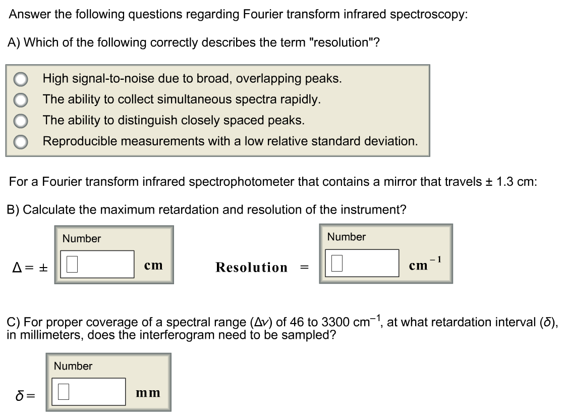 Solved: Answer The Following Questions Regarding Fourier T