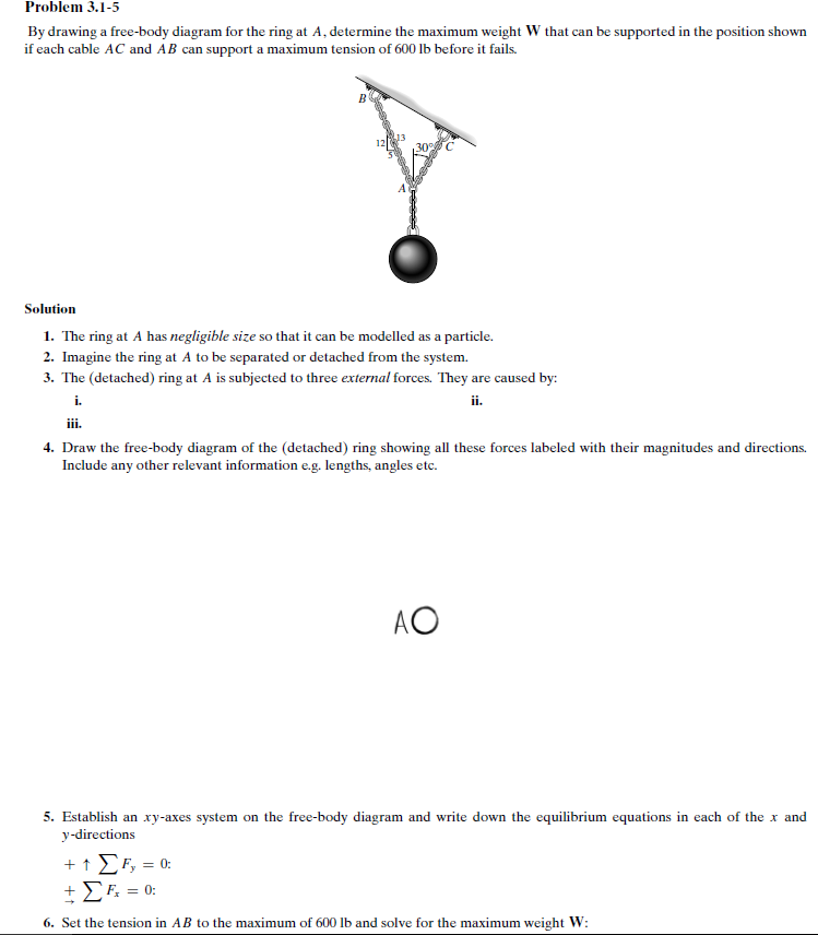 Draw a free body diagram tension online schematic diagram solved by drawing a free body diagram for the ring at a rh chegg com tension free body diagram examples free body diagram circular motion ccuart Image collections