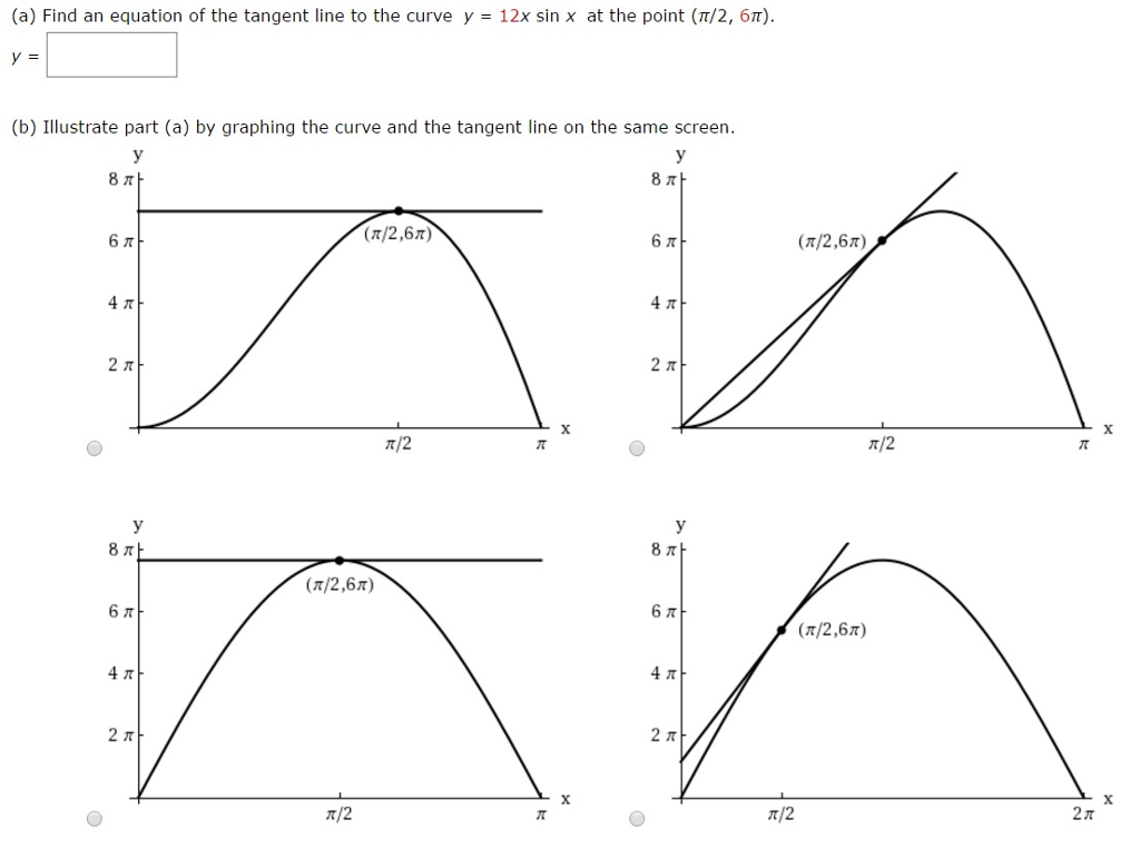 solved find an equation of the tangent line to the curve