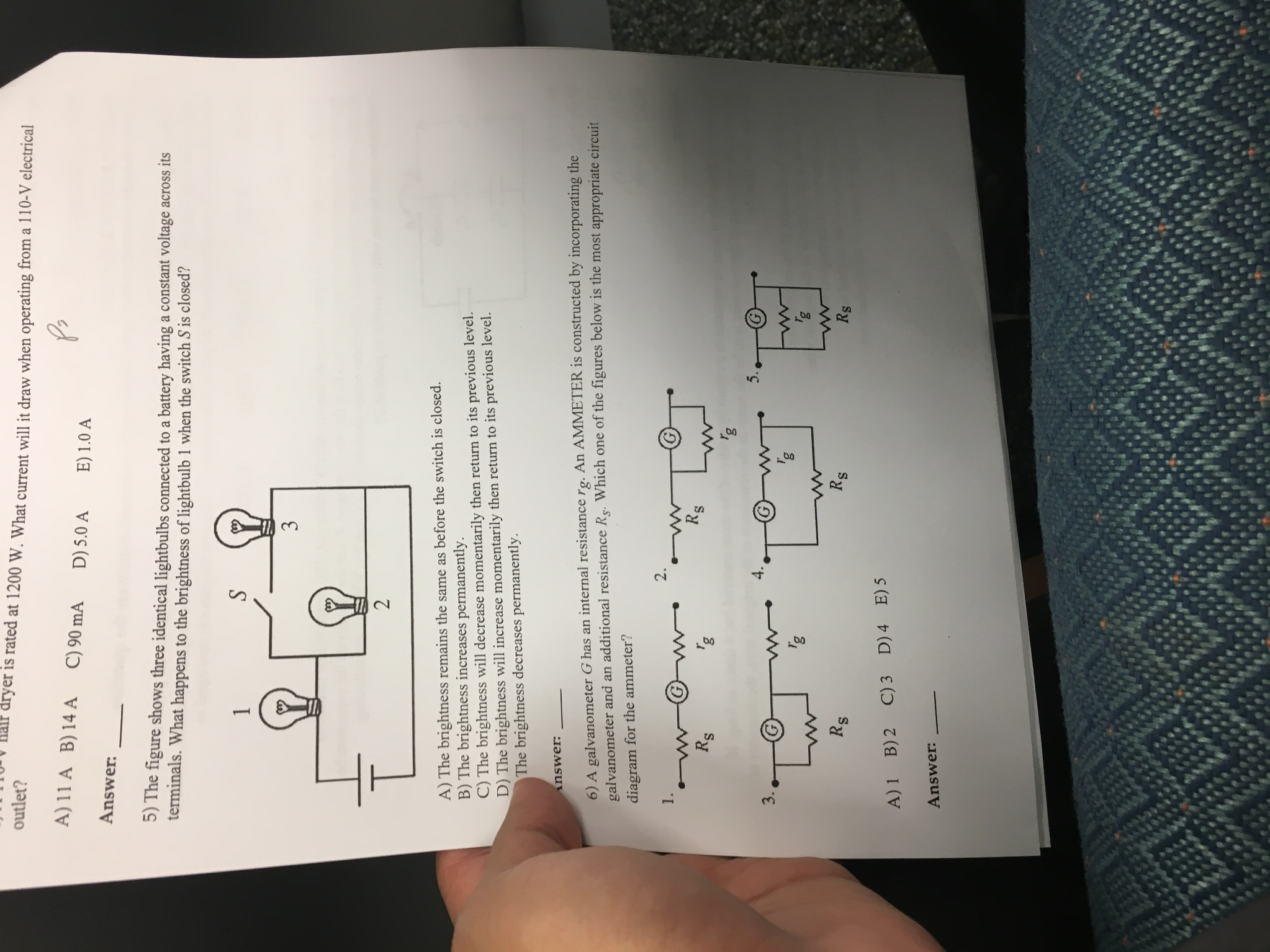 Solved The Figure Shows Three Identical Lightbulbs Connec Circuits With Multiple Batteries Please Answer Tho Cheggcom Question Connected To A Battery Having Constant Voltage Acro