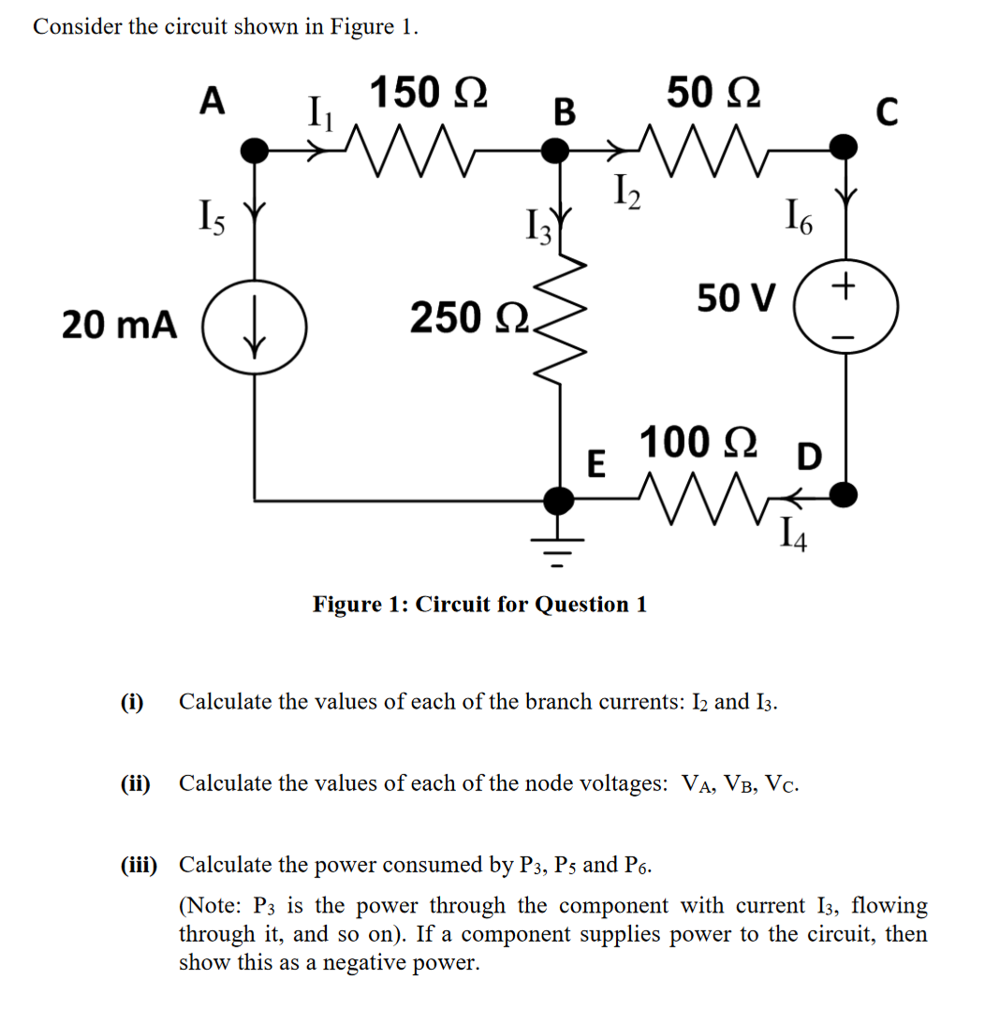 How To Calculate Bmi Consider The Circuit Shown In Figure 1 (i) Calculate  The
