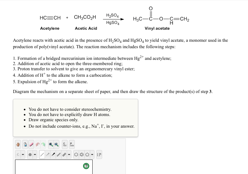 Solved 1 Draw The Products Formed By The Following Acid