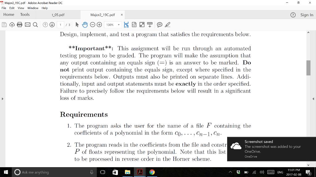 Major2 19c pdf Adobe Acrobat Reader DC File Edit V