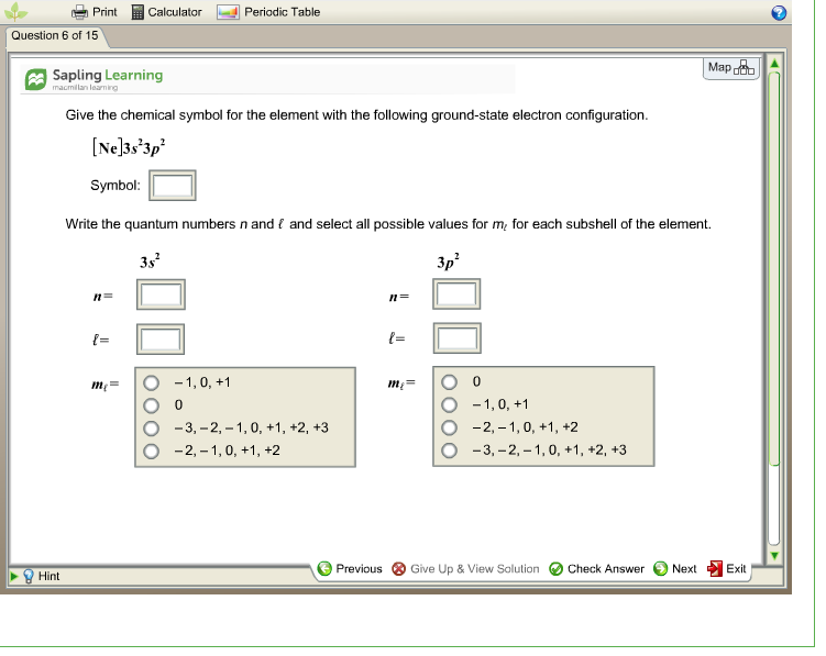 Solved Printc Calculator Periodic Table Question 6 Of 15