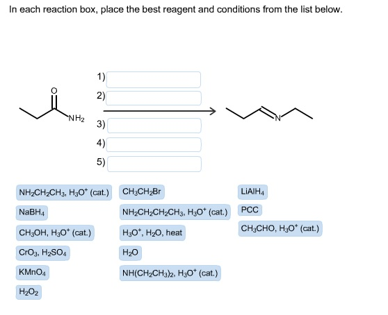 View In Each Reaction Box Place The Best Reagent And Conditions From The List Below Chegg Pictures