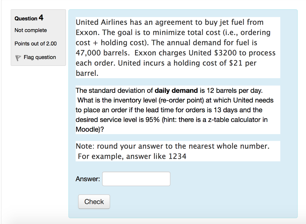 Solved United Airlines Has An Agreement To Buy Jet Fuel F