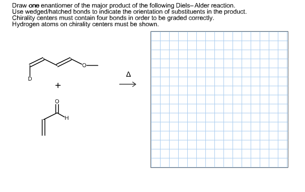 Scribble Drawing Questions : Solved draw one enantiomer of the major product fo