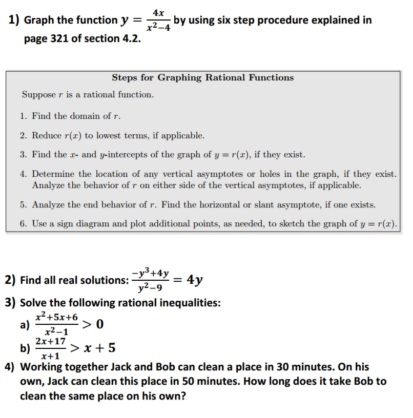 Solved Graph The Function Y 4xx2 4 By Using Six Ste