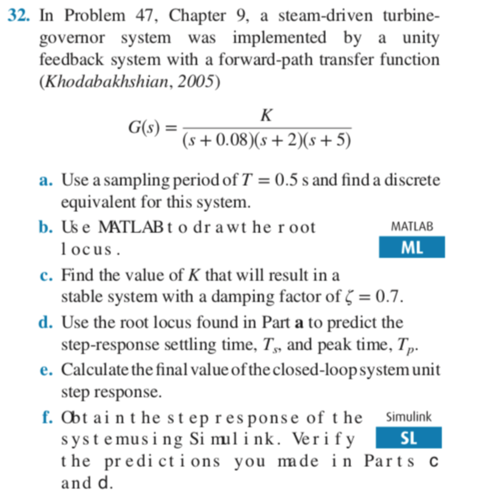Solved: 32  In Problem 47, Chapter 9, A Steam-driven Turbi
